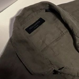 All Saints Washed Olive Overshirt XL Current Stock
